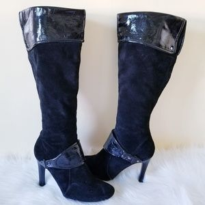 Nine West TUBBS Black Suede Boots